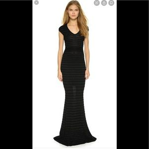 NWOT DSquared2 black long knit gown. Size small